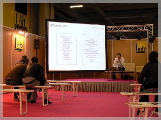 Conférence au 1er salon de l'Internet à Paris